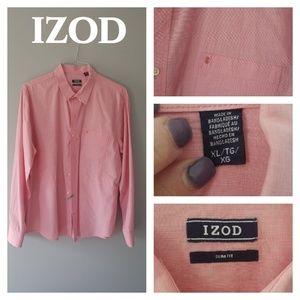 IZOD PINK DRESS SHIRT.